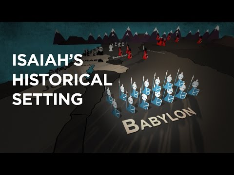 Isaiah (Ridley Certificate) Historical Setting