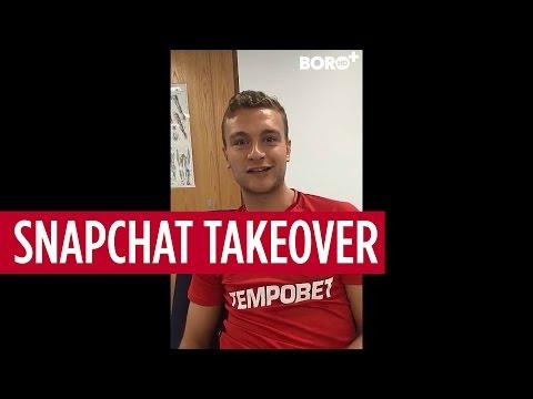 Ben Gibson takes over the Boro Snapchat account