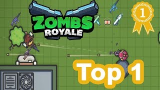 ZombsRoyale.io - 2D Battle Royale Mobile Gameplay - Win Top 1!!!!
