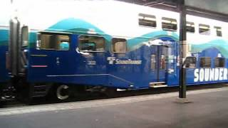 Sounder Commuter Train Arriving in Seattle