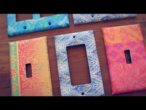DIY: CUSTOMIZED SWITCH PLATE COVERS (using a greeting card!)
