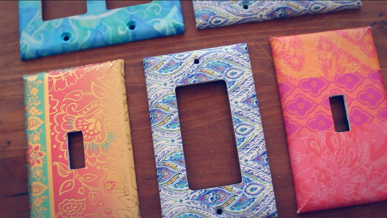 Diy Customized Switch Plate Covers Using A Greeting Card Youtube