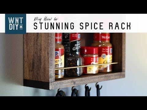 Simple Hanging Spice Rack // Easy DIY