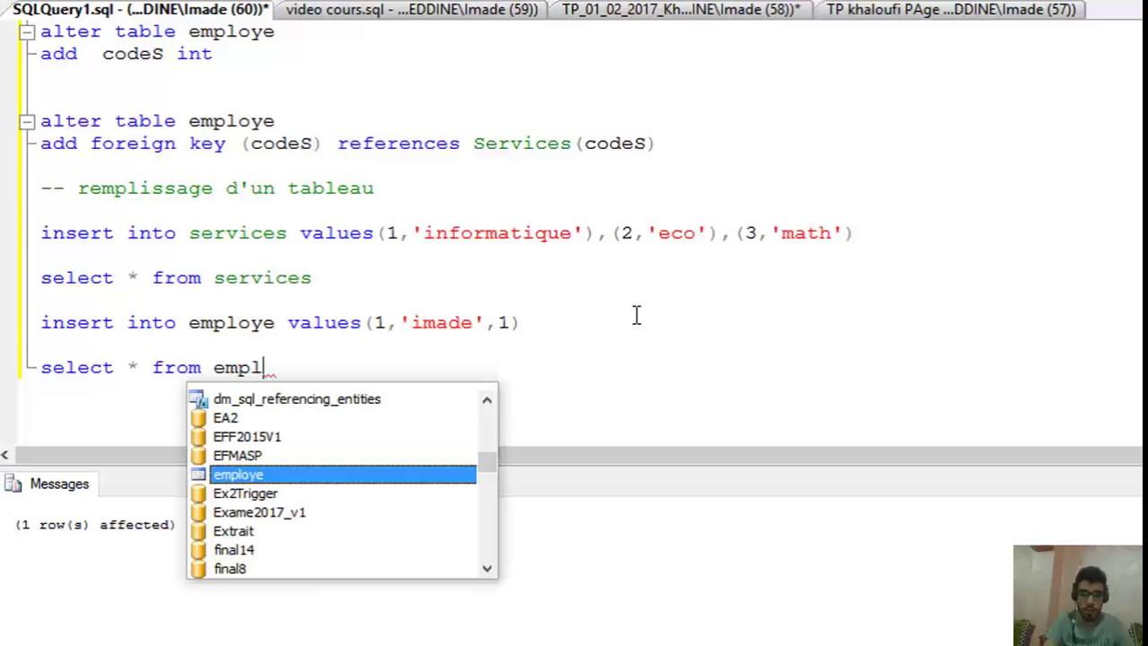 6#Cours SGBD1 SQL Server (requête selectdeleteinsertupdate ) Darija