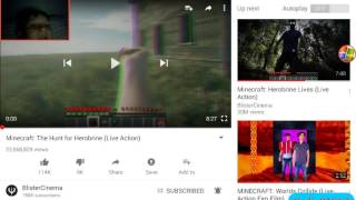 I react to Minecraft : The Hunt For Herobrine. Live Action
