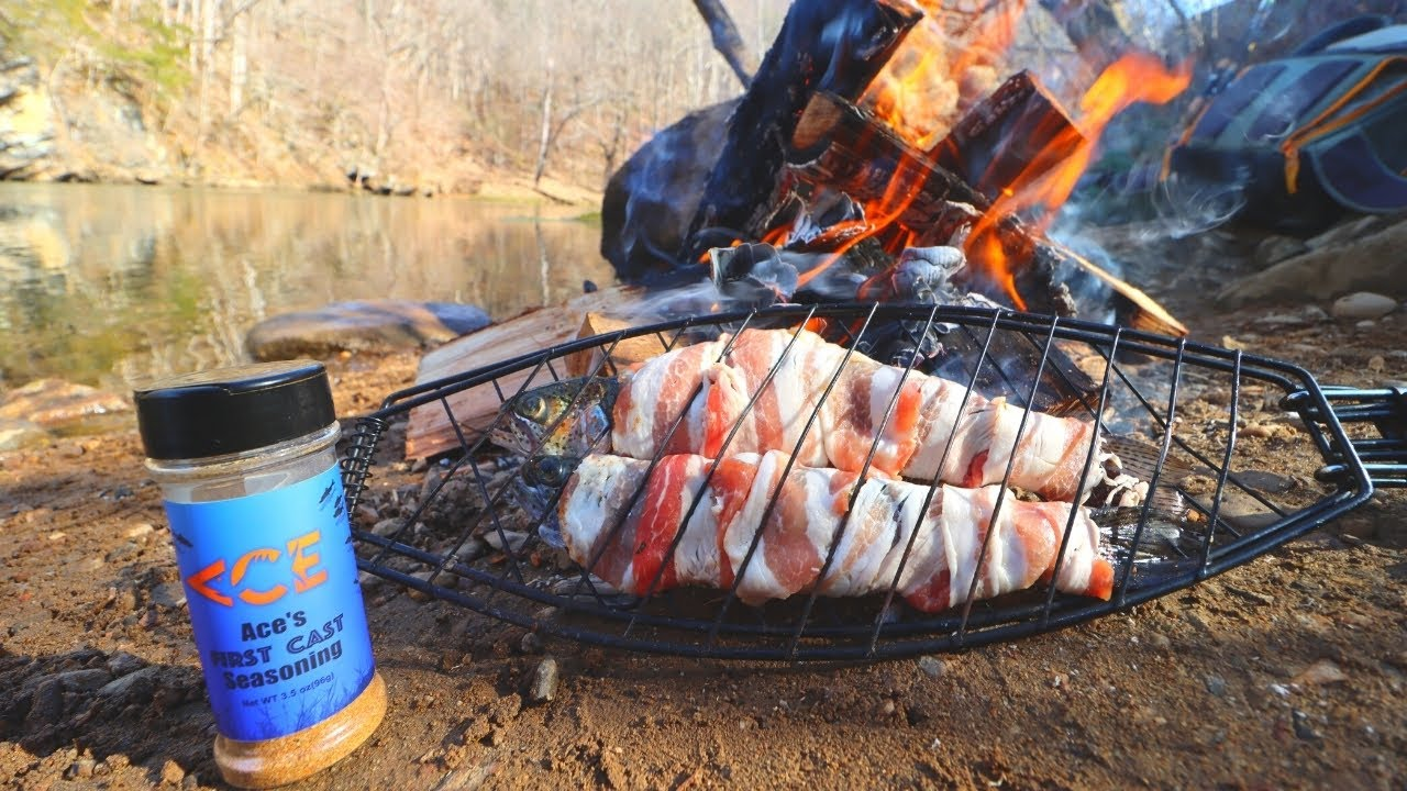 Winter Trout Catch n' Cook (Bacon-Wrapped!)