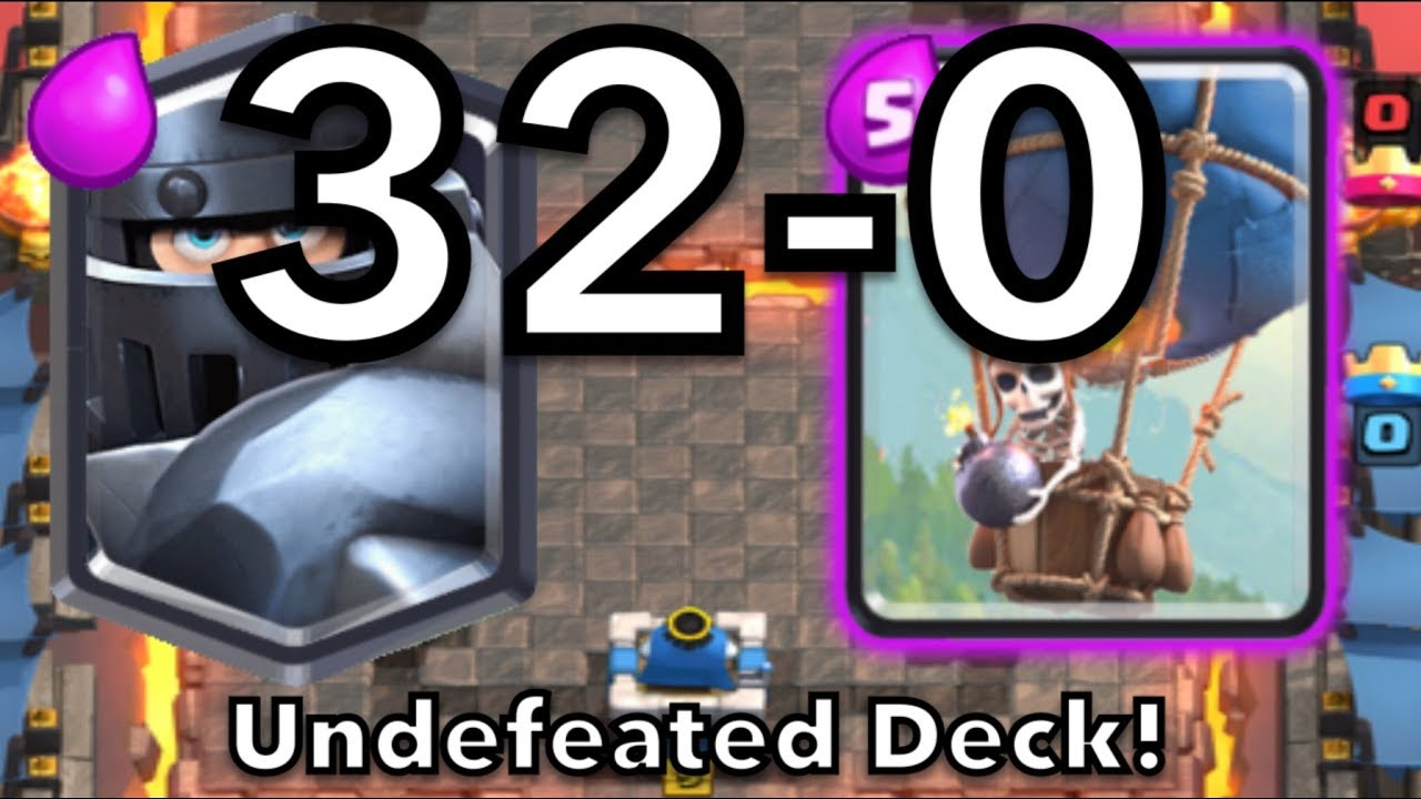 Clash Royale Undefeated Deck Mega Knight Balloon Deck