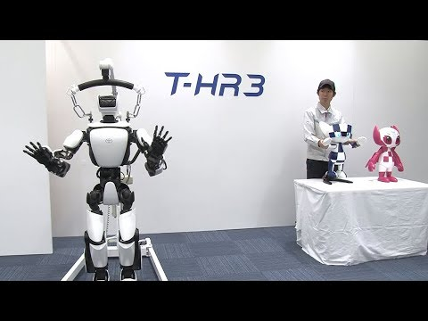 T-HR3 and Tokyo 2020 Mascot Robot synchronous operation (example)