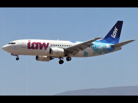 LAW Latin American Wings Boeing 737-33A [CC-AUB] | BAD landing in Santiago Airport SCL Rwy 17L