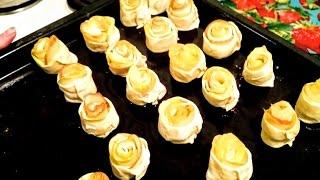 Пирожки с яблоками Рецепт пироги с яблоками из слоеного теста как приготовить в духовке вкусно