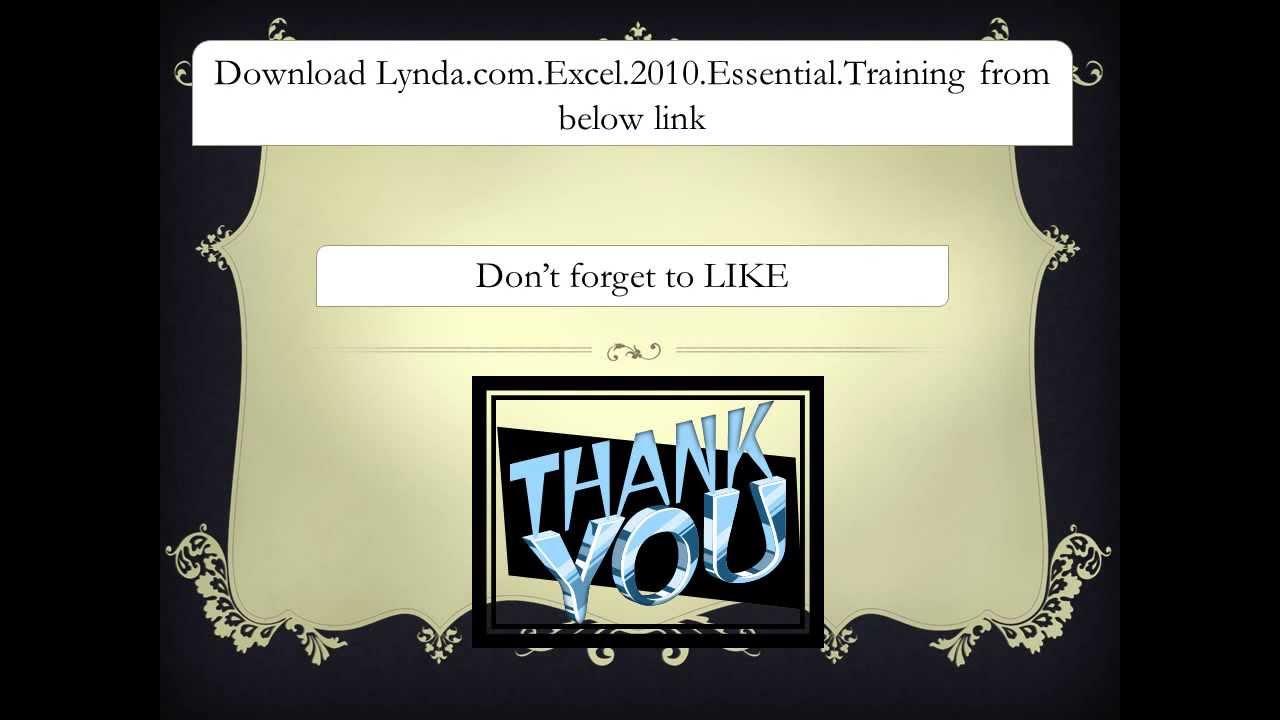 torrent lynda excel 2010 essential training