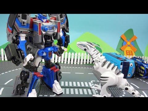 우주에서 떨어진 로봇공룡을 막아줘! 또봇 애슬론 메트론! 도시에 나타난 로봇공룡과 지하철 로봇 메트론 또봇의 대결~ Tobot Athlon Metron ❤ 뽀로로 장난감 애니