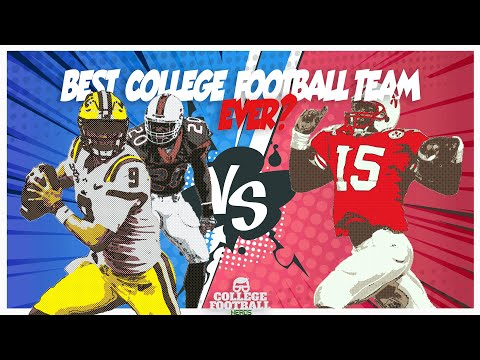 Best College Football Team of all Time: 2019 LSU vs 1995 Nebraska vs 2001 Miami - By The Numbers