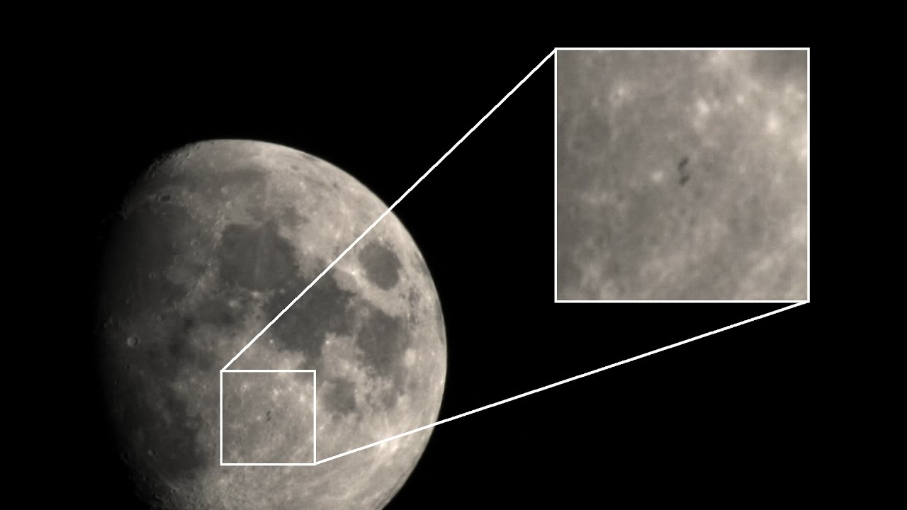 Iss Passing In Front Of The Moon Nikon P900 Youtube