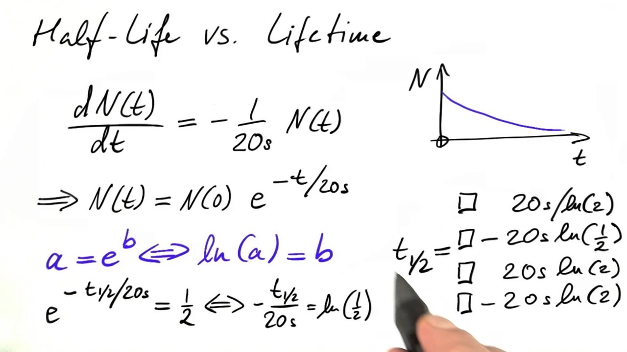 Computing Half-Life - Differential Equations in Action - YouTube