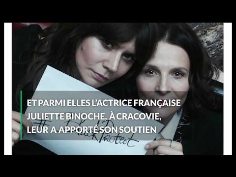 En Pologne, Juliette Binoche soutient les femmes contre l'interdiction de l'IVG