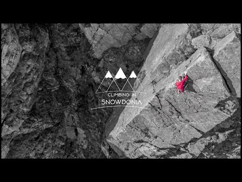 Rock Climbing in Snowdonia  4K Drone