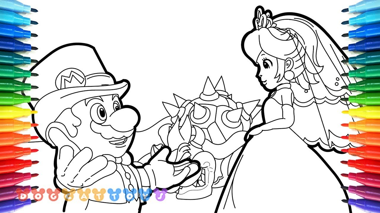 Inspirational Princess Peach and Mario Coloring Pages ...