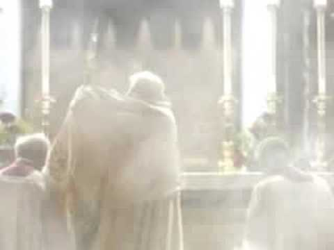 Eucharistic Adoration with two Popes