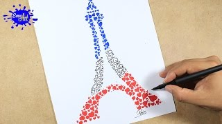PARIS TORRE EIFFEL / Como dibujar la torre Eiffel  l how to draw Eiffel Tower