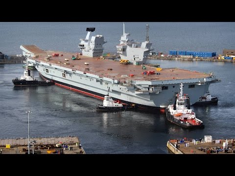 Top 10 Largest Aircraft Carriers In The World 2016    Pastimers
