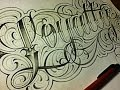 Loyalty Fancy Cursive Tattoo Style Letters
