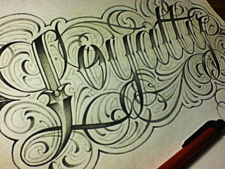 Loyalty Fancy Cursive Tattoo Style Letters - YouTube - fancy cursive letters