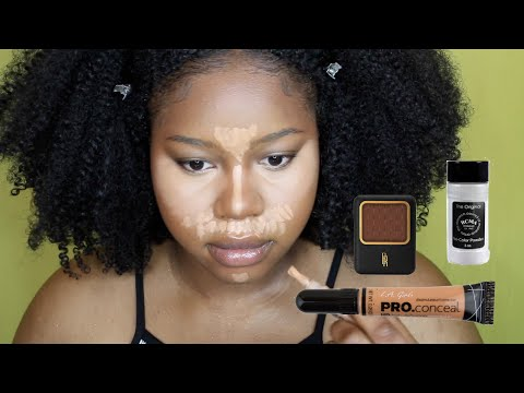 Beginner Friendly Highlight, Contour & Baking | Black Girls Makeup