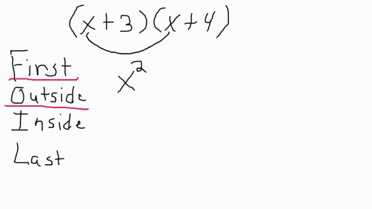 Using The Foil Method To Solve Equations Youtube