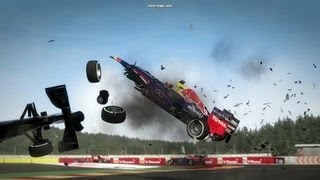 F1 2012 crashes WITH DAMAGE MOD (and 2013 mod, and fantasy HRT skin...)