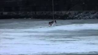 Sailboat Gets Rolled By Giant Wave