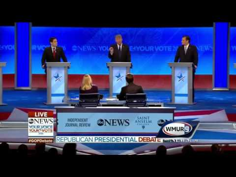 2016 GOP Debate: Trump, Cruz clash over Trump