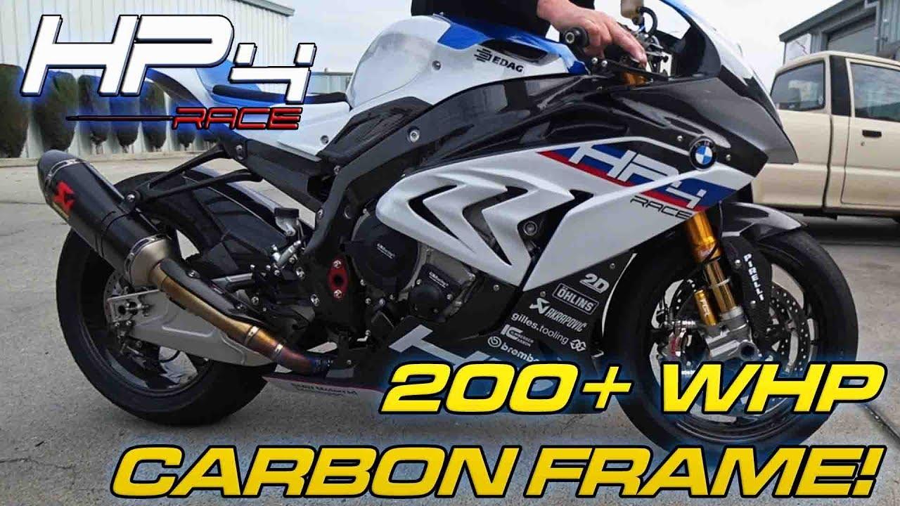 8fe928b81575 BMW HP4 RACE Details + Dyno Runs - CARBON FRAME! - YouTube