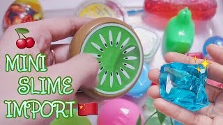 COMPLETE! SLIME COLLECTION VARIOUS FORM OF MINI CUTE SLIME MADE IN CHINA - CLEAR GLITTER etc