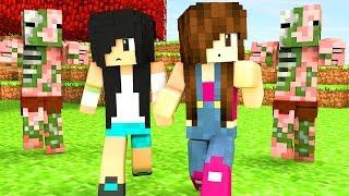 Minecraft -  FUGINDO DOS ZOMBIE PIGMAN