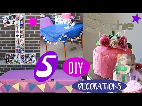 DIY FIRST BIRTHDAY PARTY DECORATIONS AND IDEAS