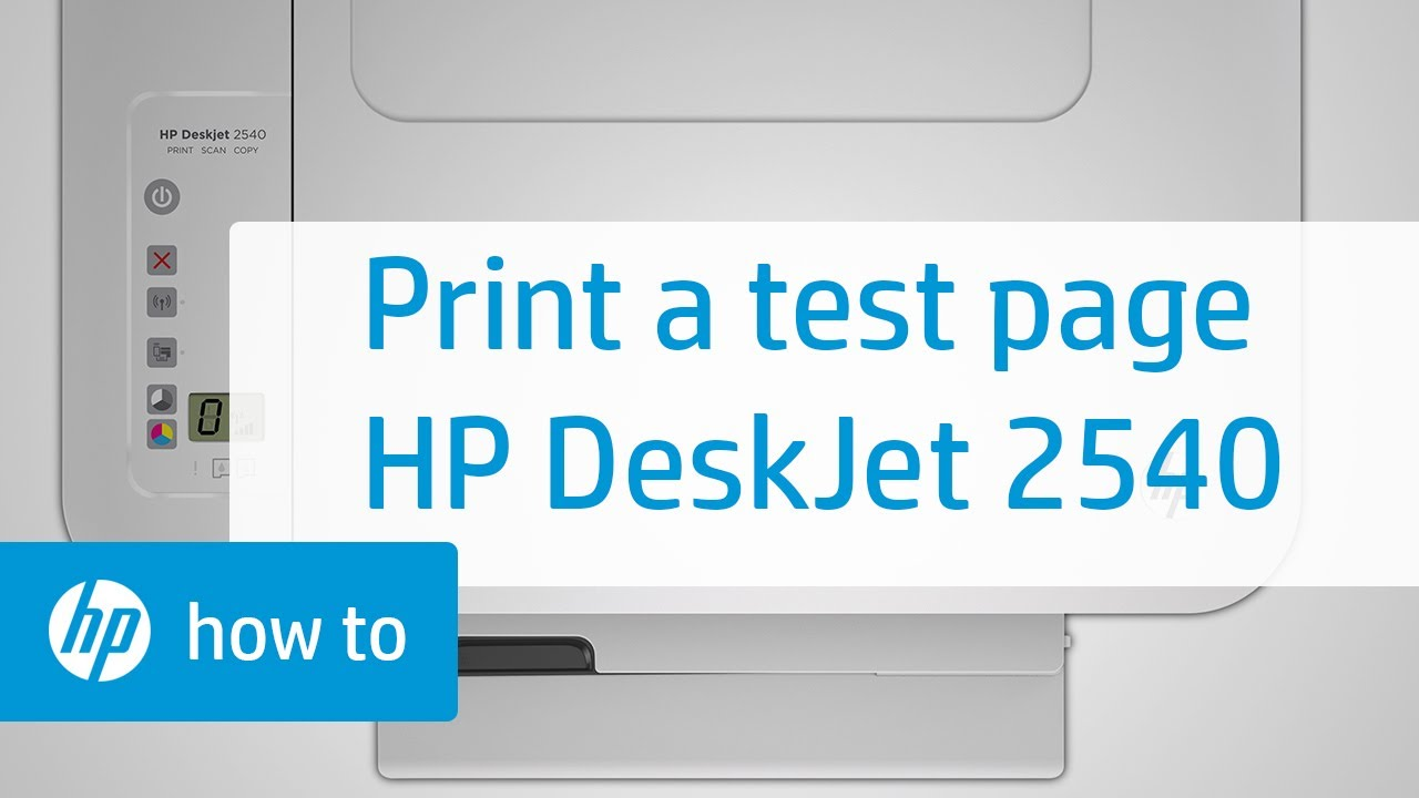 Printing A Test Page Hp Deskjet 2540 All In One Printer Cartridge Tinta 802 Colour Original Youtube
