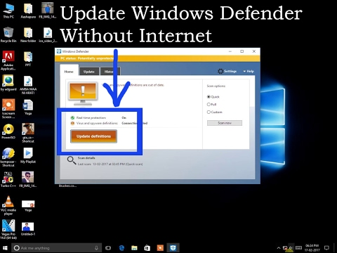 How To Update Windows Defender Without Internet Connection In Your Pc