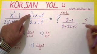 Korsan Yolla çarpanlara Ayırma Soru çözümü 1 - şenol Hoca Şenol Hoca Matematik