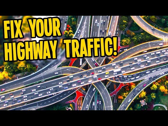 From RAMMED Highways to FREE FLOWING Roads in Cities Skylines!!!