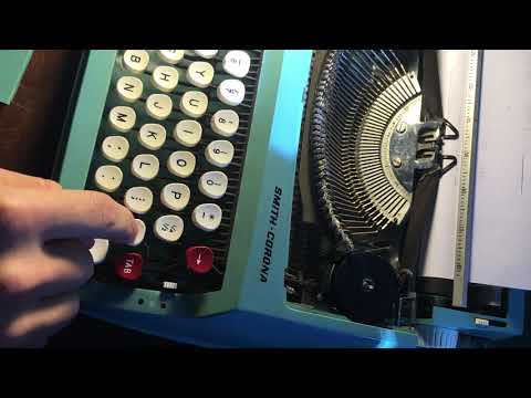 How to fix a typewriter/ stuck key