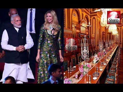 PM Narendra Modi, Ivanka Trump attend Royal dinner at Falaknuma Palace,Hyderabad 28-11-2017.