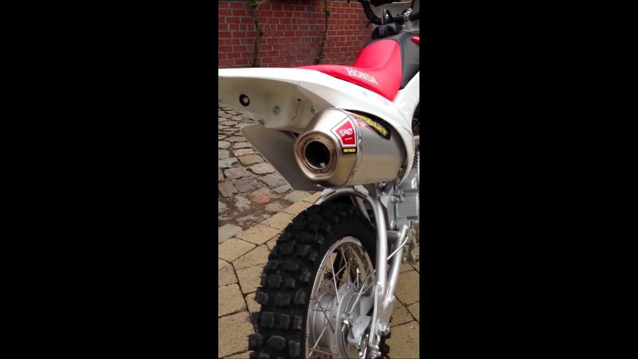 Honda crf110 pro circuit t5 exhaust - YouTube