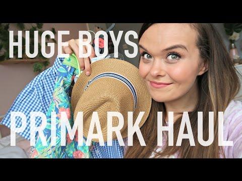 HUGE BOYS SPRING & SUMMER PRIMARK HAUL APRIL 2017 | Charlotte Taylor