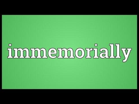 Header of immemorially
