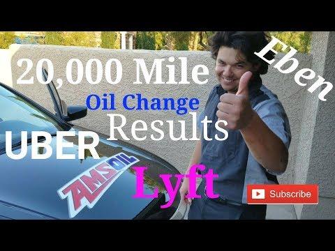 20,000 Mile Oil Change on UBER & Lyft Car Test Results