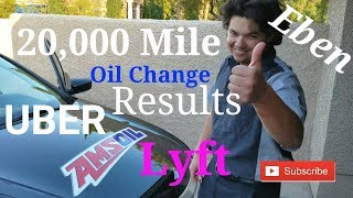 20,000 Mile AMSOIL Signature Series Oil Change on UBER & Lyft Car Test Results