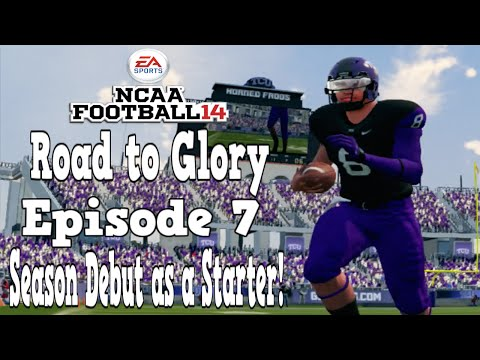 NCAA Football 14   Road to Glory   QB   7   Season Debut as a Starter!