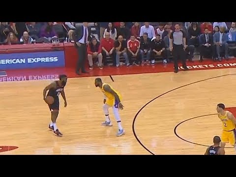 James Harden Shows LeBron James He Can't Be Guarded! Lakers vs Rockets