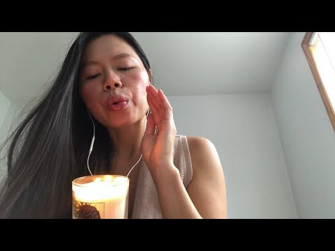 ASMR GENTLE TAPPING Glass Candles, Affirmations of Self Love, Interconnectedness, Fireplace Sounds